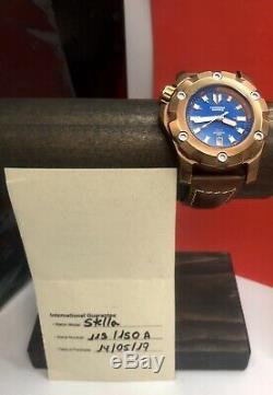 Pontvs Fonderia Stella Bronze Bleu Navale Édition Limitée Dial 150 Pièces 44mm