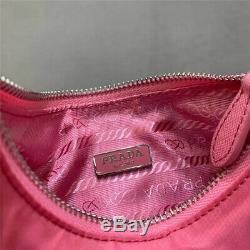 Prada Nylon Re-edition 2005 Sac Bandoulière Begonia Rose / Piece Rare