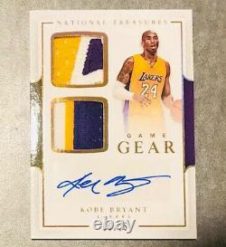 Rare 2016-17 National Treasures Game Gear Kobe Bryant Auto Jersey Carte 6/25! Wow