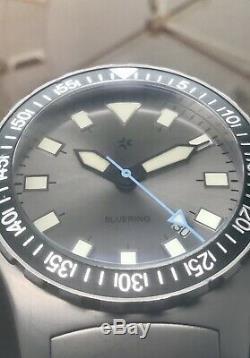 Rare Halios Bluering Limited Edition Suisse Eta Automatique 100 Pièces 300 M 44.5mm
