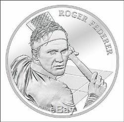 Rare Roger Federer Silbermünze Argent Monnaie Pièce Edition Limitée 2020 D 'argent À