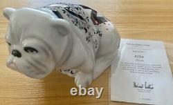Royal Doulton Limited Edition Bulldog Alfie Dd001 Pièce À La Retraite