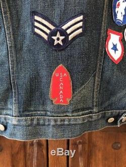 Rrl Limited Edition Denim Patch Jacket Taille Petit Nwot 1 Sur 12 Fabriqué Aux Etats-unis.