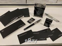 S. T. Dupont Opus X Fuente 4 Piece Noir 2005 Limited Edition Set 100% Authentique