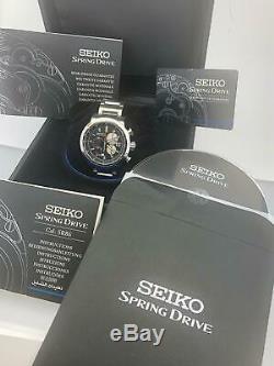 Seiko Ananta Spring Drive Chrono. Boîte / Cert. Ltd Ed. Dans 300 Pièce Sps003