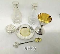 Six Pièces En Argent Sterling Voyager Communion Set J Wippell & Co Ltd Londres Des Années 80