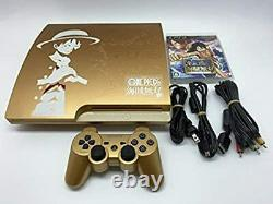 Sony Playstation 3 Ps3 Une Pièce Gold 320 Go Console Limited Edition Fedex Ship