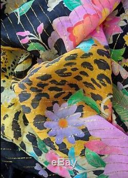 Sort Designs Gypsy Festival De Boho MIDI Noir Jimi Robe Kimono Plumeau Bnwt S / M