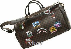 Sprayground Intl Travel Patch Emperor Duffle Bag 910d3360nsz Shark In Paris Rare