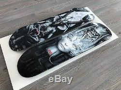 Suprême X H. R. Giger Skateboard Deck Set.