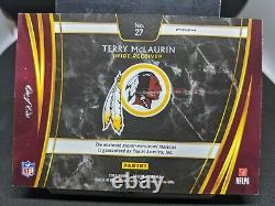 Terry Mclaurin 2019 Panini Sélectionner Black Laundry Tag 1/1 Patch Rookie Ohio State