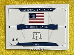 Trésors Nationaux 2020 Collégial Lamelo Ball Rpa /35 États-unis