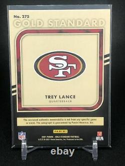 Trey Lance Rookie 2021 Panini Or Standard Triple Patch Auto 49ers Rpa (37/49)