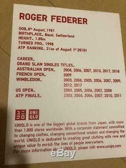Uniqlo Roger Federer 2018 Wimbledon Tennis Ensemble 5 Pièces Taille L Limited Edition