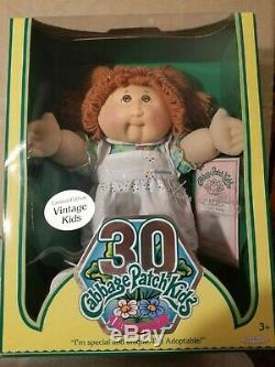 Vintage Cabbage Patch Kids Doll Limited Edition 30ème Anniversaire Red Hair Nib