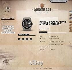 Vintage Vdb No Limit Surface Militaire 10 Pièces 46mm 200m Suisse Eta Automatique