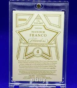 Wander Franco 4 Juillet Stars & Stripes Rookie Patch Auto #1/7 Rare