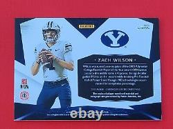 Zach Wilson 2021 Panini Chronicles Draft Picks Limited Rpa Rc Patch Auto 1/1