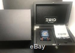 Zoid Zoomeister 18 Blue Edition Limitée Cadran Squelette 200m Automatique 18 Pièces